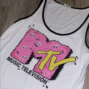 MTV Logo Tank by Junk Food Clothing